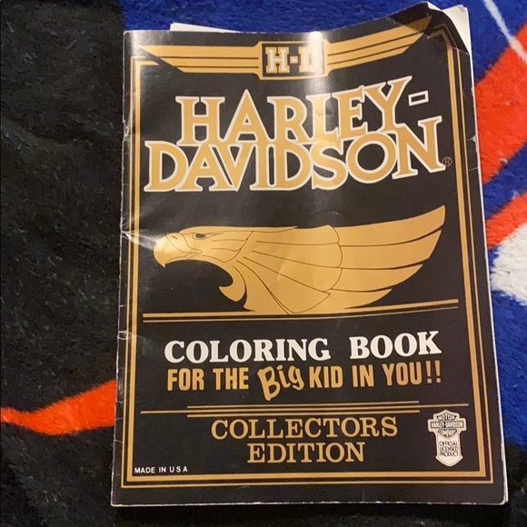 Harley-Davidson Accessories 1986 Collectors Edition Coloring Book  Poshmark
